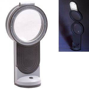 Cameras, Optics - 11LED 3X/6X/4.5X Folding Double Lens Magnifier Magnifying Glass Microscope - 46