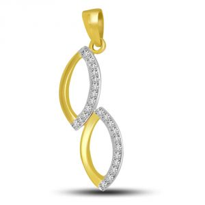 Surat Diamond Togetherness Of Love & Purity : Diamond & Gold Pendant P730