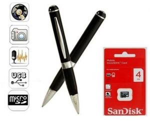 Spy Pen 4GB Memory Card HD Video Recording