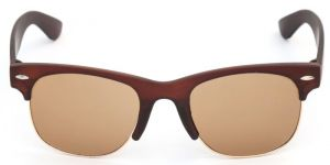 Stylish Brown Wayfarer Sunglasses Clubmaster