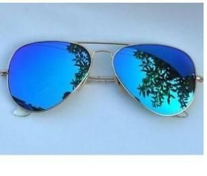 Sunglasses (Unisex) - INDMART Royal Blue Mirror  Aviator Sunglasses