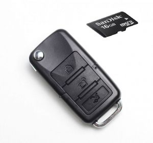 Super Spy Bmw Car Key Chain Camera With 8 GB Micro SD