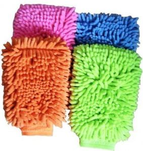 Kitchen cleaning equipments - Omrd Set Of 4 Multipurpose Microfiber Washing Gloves To Clean House Car Off