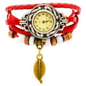 New Vintage Style Leather Bracelet Watch For Women 269