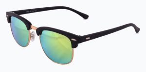 New Trendy Club Master Style Uv Protected Sunglass Black Frame And Green Lens