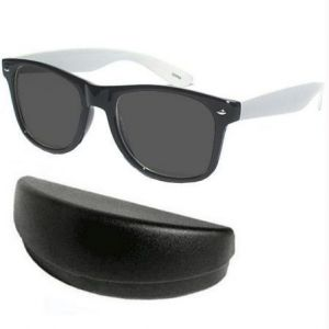 Classic Black With White Wayfarer Sunglasses