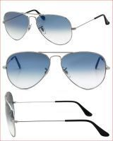 Trendy Aviator Style Uv Protected Sunglass Silver/light Blue Lens 44