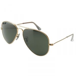 EDGE Plus Black Aviator Sunglasses With Golden Frame