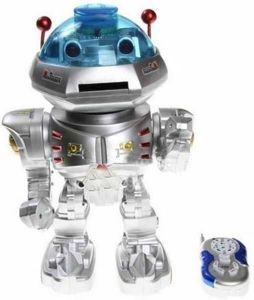 Gifts & Arts Space Walker Shooter Intelligent Robot (silver)