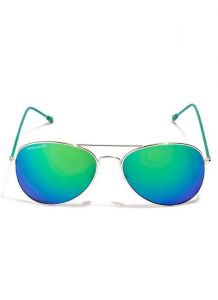Sunglasses (Unisex) - Danny Daze Green Mirror Lens Aviator Sunglasses For Men & Women