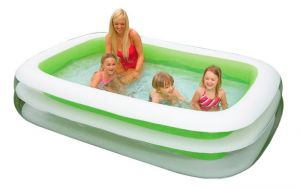 Intex Inflatable Family Pool White Green Model 56483