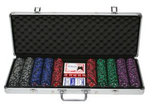 Board Games - Sands Incorporation 500 Denomination Clay Chips Poker Game Set