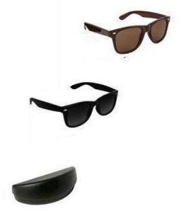 Wayfarer Sunglasses By Nau Nidh Black & Brown Combo Goggles