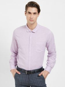 Solemio Formal Shirts (Men's) - Solemio Cotton Linen Blend Shirt For Mens  (Code - A18SH1033EPU)