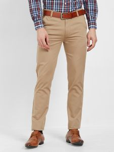 Solemio Cotton Lycra Brown Chinos For Mens (code - S19ch1002ebr)