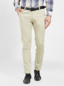 Solemio Cotton Lycra Beige Chinos For Mens (code - S19ch1002ecr)