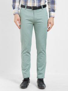 Solemio Cotton Lycra Green Chinos For Mens (code - S19ch1002ege)
