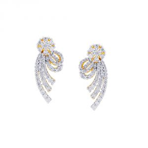 Sangini Yellow Gold Diamond Earrings De729si-jk18y