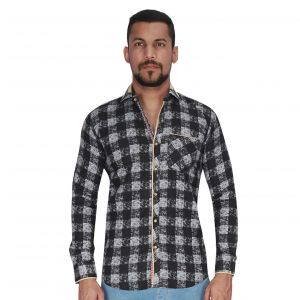 Buy Black With White Over Checks Print Shirt By Corporate Club (code - Cc - Pp103 - 04) online