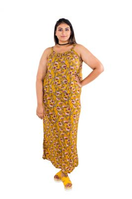 Buy The Plum Tree Iris Mustard Dress Casual Wear online