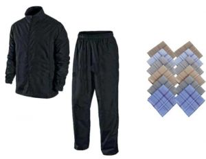 Buy Rain Breaker Complete Rain Suit With Carry Bag And Premium Mens Handkerchief Set Of 12 PCs online