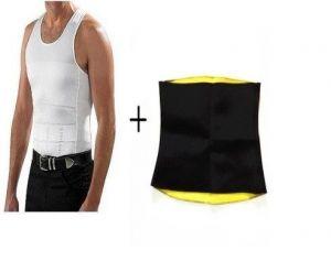 51151d9b6f3e3 Buy Slim N Lift Men Vest With Hotshaper Belt Slim Trimer Tucker Men s  Shapewear Online