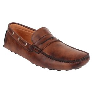 Buy Guava Driving Brown Loafers for Men online