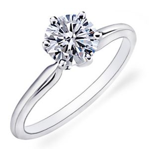 Sheetal Diamonds Hot Selling 0.30TCW Real Round Cut Solitaire Diamond Engagement Ring 14k White Gold R0320
