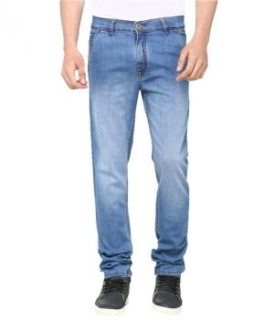 Buy Savon Stylish Blue Slim Fit Faded Jeans online