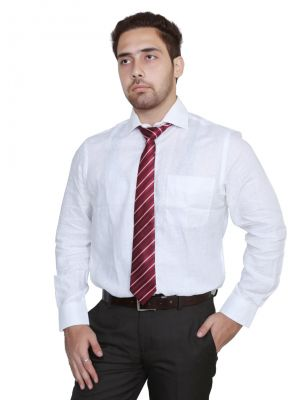 Buy Iq Pure Cotton White Shirt For Men online