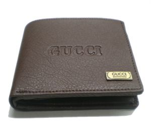 Buy PE Mens Artificial Brown PU Leather Wallet online