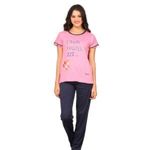 056dab9f379 Buy De Moda Women S Blue   Pink Night Suit Online