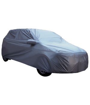 Buy Spidy Moto Elegant Steel Grey Color With Mirror Pocket Car Body Cover Skoda Fabia online