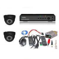 Buy Set Of 2 Night Vision Cctv Cameras And 4 Ch Dvr With All Required Connector online