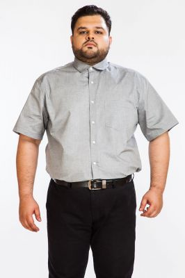 Buy Dapper Homme Grey Color Egyptian Cotton Plus Sized Shirt For Men online
