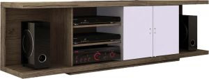 Afydecor Contemporary Entertainment Unit In Stylish Low Slung Design(Product Code)_3151