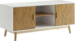 Afydecor Modern Corner Entertainment Unit With Dual Cabinets(Product Code)_3185