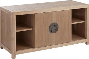 Afydecor Transitional Compact Entertainment Unit With Sliding Doors(Product Code)_3189