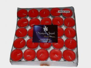 AMOUR ROSE TEA-LIGHT CANDLE(Pack Of 50)