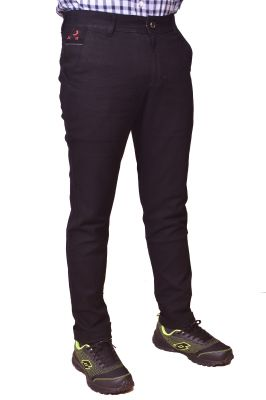 Buy Just Trousers Black Regular -Fit Flat Chinos online