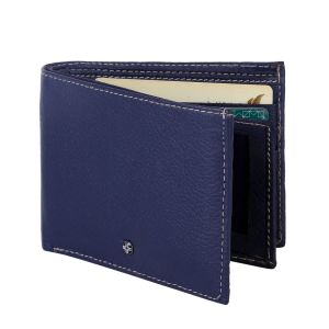 Buy Jl Collections Men's Navy Blue Genuine Leather Wallet (8 Card Slots) ( Code - Jl_mw_2460) online