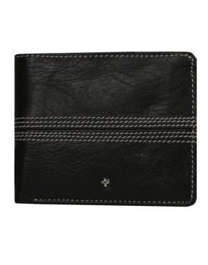 Buy Jl Collections 6 Card Slots Black & Brown Men's Bifold Wallet online