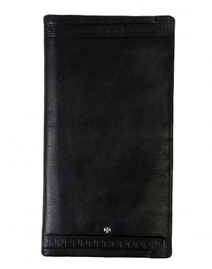 Buy Jl Collections 8 Card Slots Black Men's & Women's Leather Travel Wallet online