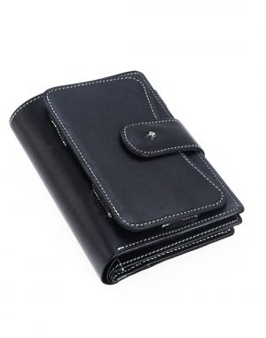 Buy Jl Collections Men's & Women's Black Ten In One Utility Travel Wallet online