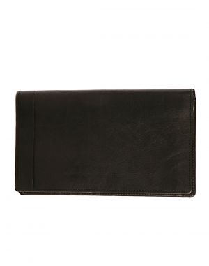 Buy Jl Collections 9 Card Slots Black Unisex Leather Travel Wallet online