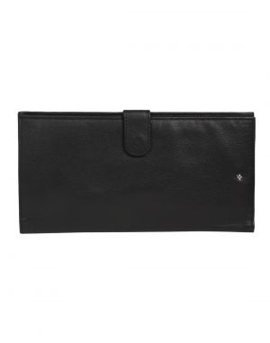 Buy Jl Collections 5 Card Slots Black Men's & Women's Leather Travel Wallet online