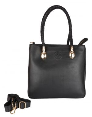 a21d2dd06e0e Buy Jl Collections Women s Leather Black Shoulder Bag Online