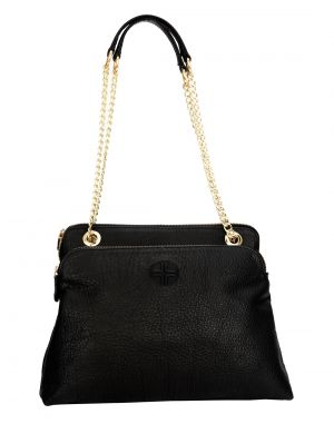 Buy Jl Collections Womens Leather Black Shoulder Bag (code - Jlfb_3437) online