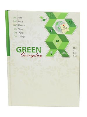 Buy Indigo Creatives Everyday Green Recycled Paper 2018 Business Executive Diary Organiser Planner online