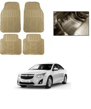 Buy Trigcars Cream Rubber Floor Mat For Chevrolet Cruze online